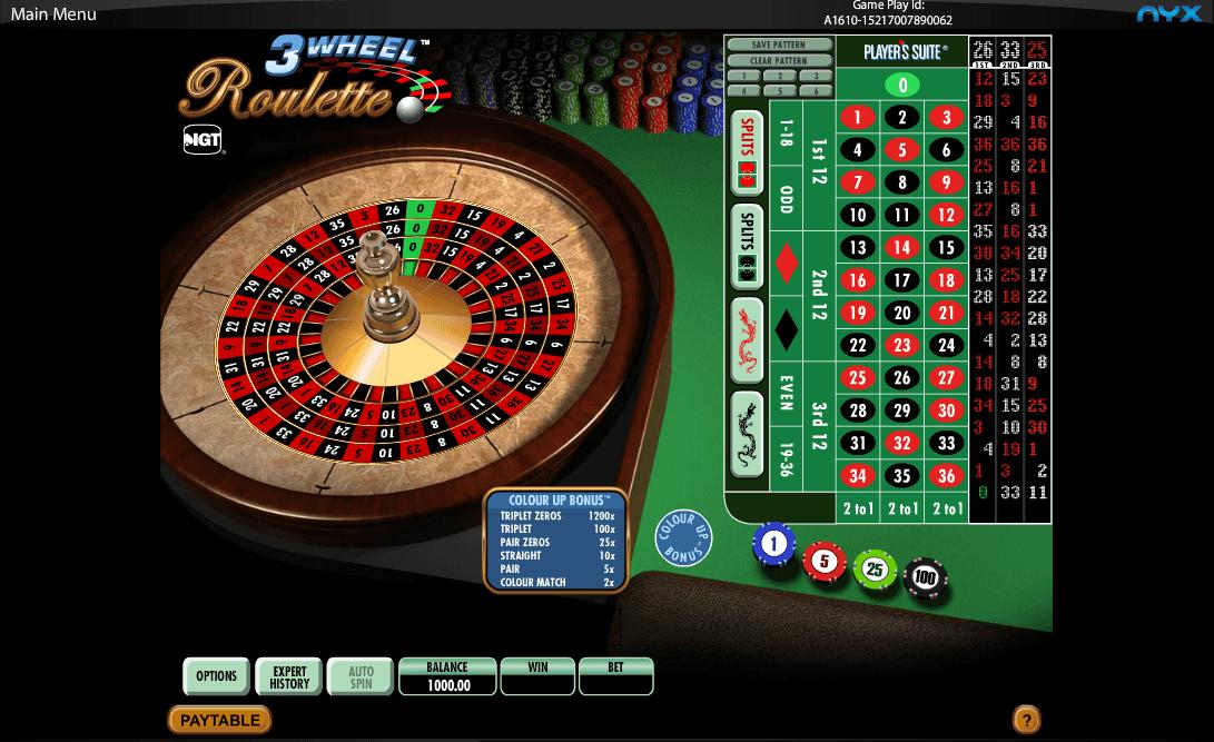 3 Wheel Roulette