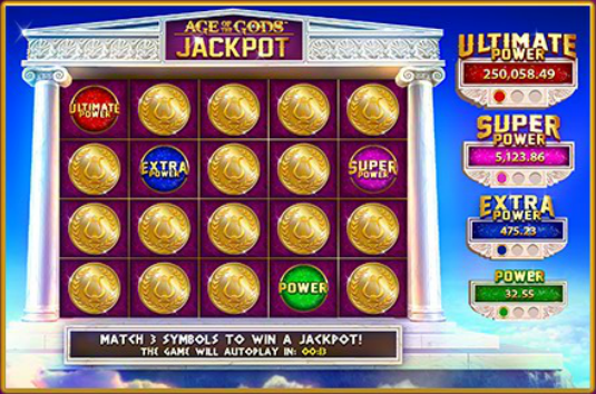 Age of The Gods Slot Machine Jackpot Progressivo