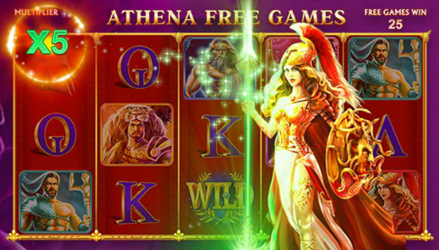 Slot Machine Age of the Gods: Athena Free Games