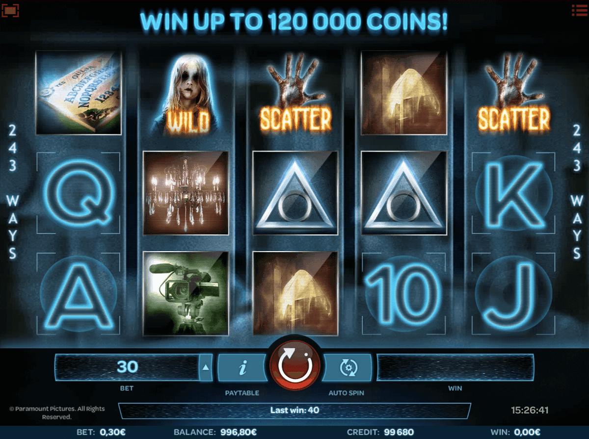 Paranormal Activity Slot Machine